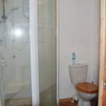 The shower and toilet area