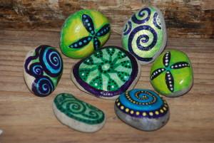 Moss inspired stones