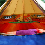 Blue Bell Tent only solar powered lighting
