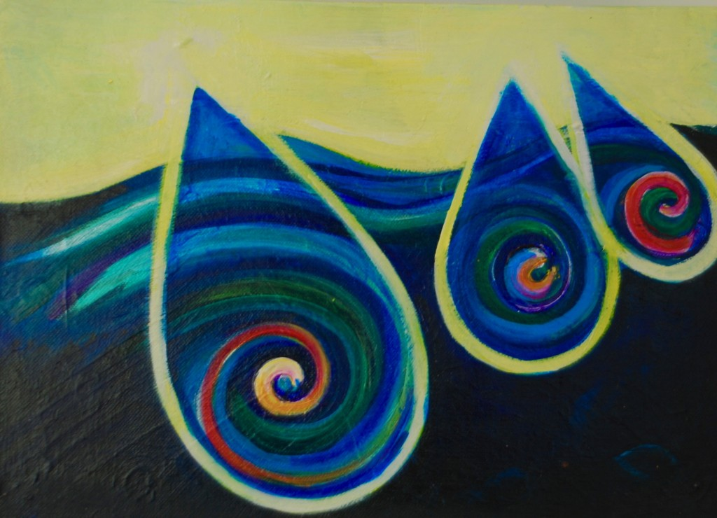 Just a drop in the Ocean of Love- Acrylic on canvas
