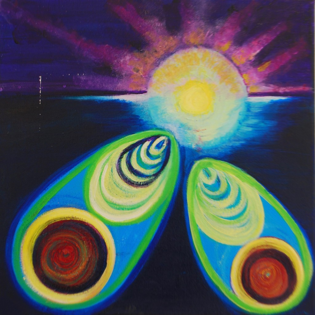 Towards Home- Acrylic on canvas